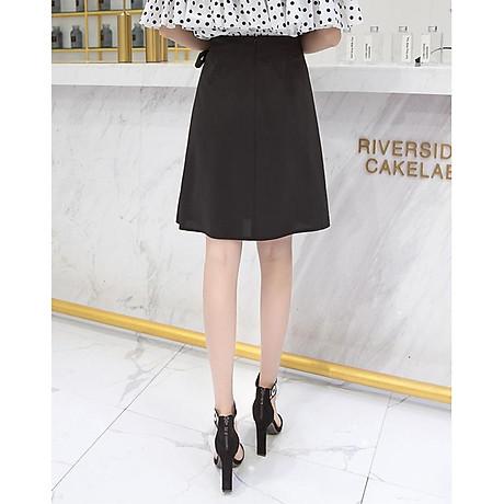 Chân váy công sở đẹp Louro L702, dáng thiên chữ A, mẫu chân váy cách điệu xếp ly buộc nơ eo, cạp cao tôn dáng che bụng hiệu quả 6