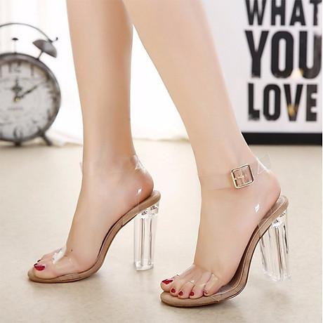 Giày Sandal Cao Gót - Trong Suốt 3
