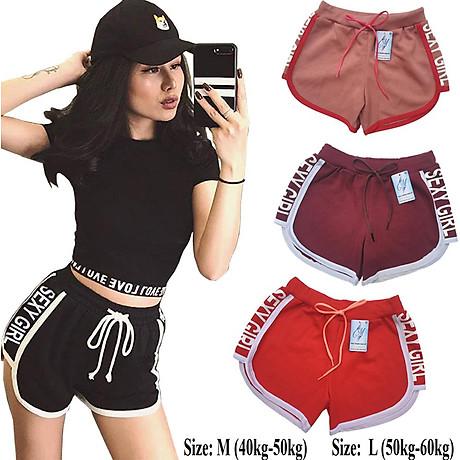 Combo 5 Quần đùi nữ SEXY GIRL dây rút, thể thao, tập gym, yoga, mặc nhà, giá rẻ, quần short nữ cao cấp ( Giao màu ngẫu nhiên ) 4