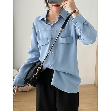 Sơ mi nữ form rộng tay dài ArcticHunter, phong cách trẻ, thương hiệu chính hãng 1
