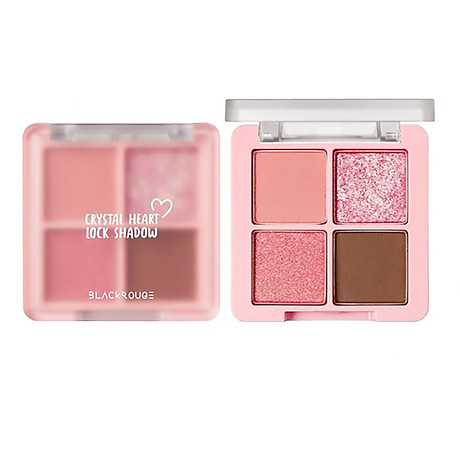 Bảng Phấn Măt Black Rouge Crystal Heart Lock Shadow 30.6g 3