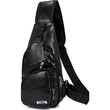 Túi đeo chéo nam da PU tiện dụng-đen 1