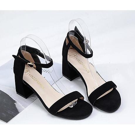 Giày Cao Gót Đế Vuông Quai Ngang Black 7