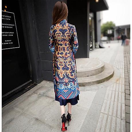 Set áo dài cách tân kèm váy thổ cẩm BY2004A 6