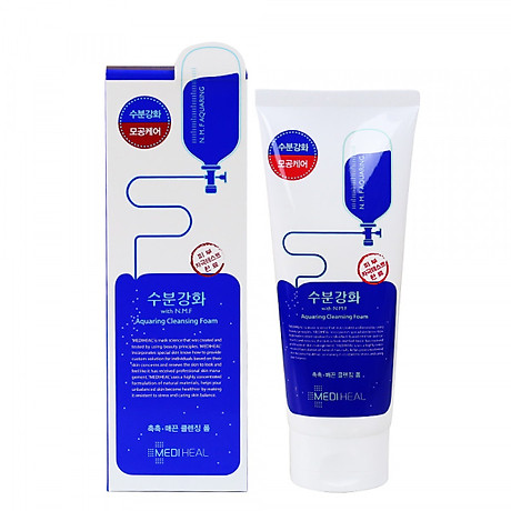 Sữa rửa mặt cấp nước dưỡng ẩm cho da Mediheal N.M.F Aquaring Cleansing Foam 170ml 4