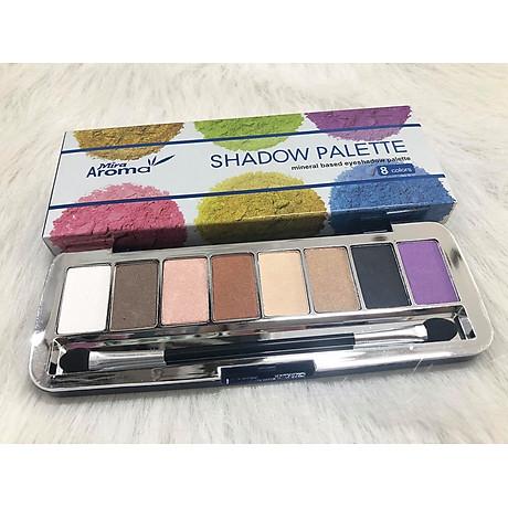 Phấn mắt 8 ô siêu mịn Mira Aroma Shadow Palette 8 Colors Hàn Quốc (2g x8) No.2 tặng kèm móc khoá 5