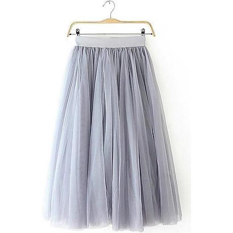 Chân váy midi tulle dài 3