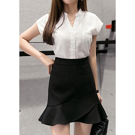 Chân váy công sở đẹp Louro L700, có lớp lót quần bên trong, dáng ngắn chữ A vẩy đuôi cá nhẹ, dễ kết hợp trang phục, đi làm đi chơi,tặng quần mặc trong váy cotton cao cấp 1