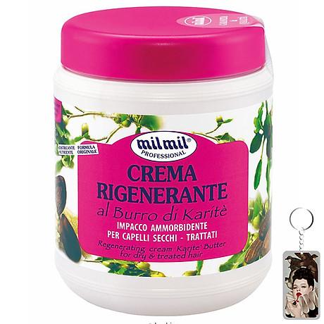 Kem phục hồi tóc tinh chất bơ Milmil Cream Karite Butter 1000ml tặng kèm móc khóa 1