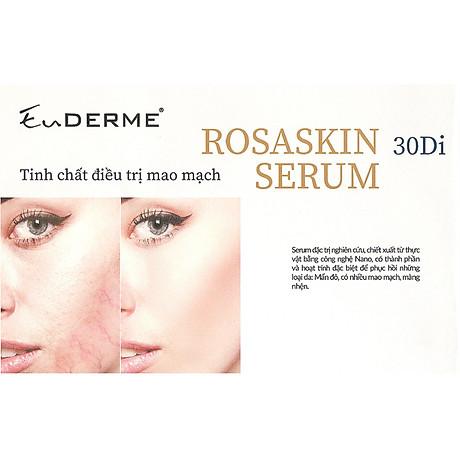 Tinh chất đặc biệt dưỡng da sáng mịn, chăm sóc da nhiều mao mạch mụn thâm nám EuDERME Rosaskin 30Di Serum, Italy 4
