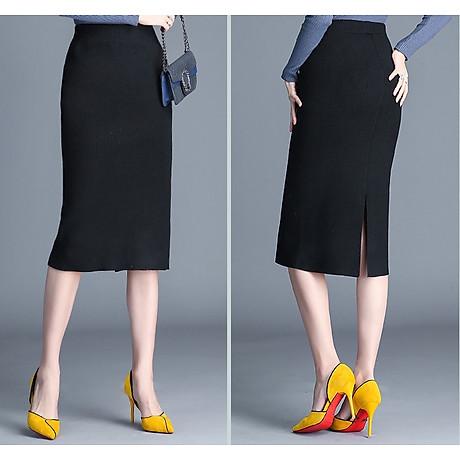 Chân váy bút chì xẻ tà Haint Boutique Cv12 3