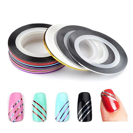 Set 10 cuộn băng keo trang trí móng DIY phong cách tao nhã - decal dán móng Nail nghệ thuật 8