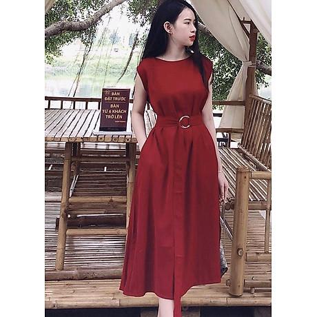 Đầm đỏ tay con 1