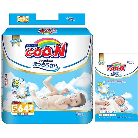 Tã Dán Goo.n Premium Gói Cực Đại S64 (64 Miếng) - Tặng thêm 8 miếng cùng size 1