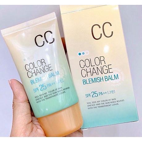 Kem nền hiệu chỉnh màu da và chống tia UV SPF 25 PA+ + Hàn Quốc welcos color change blemish balm (welcos) 4