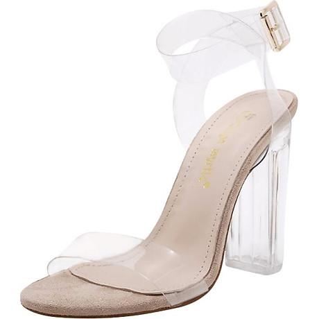 Giày Sandal Cao Gót - Trong Suốt 1