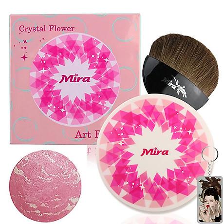 Phấn Má Hồng Mira Crystal Flower Art Blusher Hàn Quốc 10g No.1 Jelly Pink tặng kèm móc khóa 1