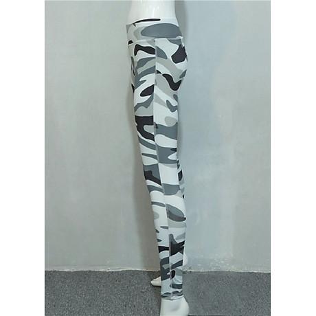 Quần legging cạp cao rằn ri Mã QB679 - 3 3
