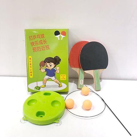 Bộ vợt bóng bàn tập phản xạ lắc lư cho bé - Tặng 1 lọ tinh dầu Quế 1
