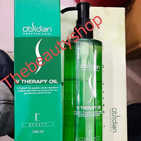 Tinh dầu phục hồi tóc hư tổn Obsidian Professional V - Therapy- Oil Hàn Quốc 240ml tặng kèm móc khoá 5