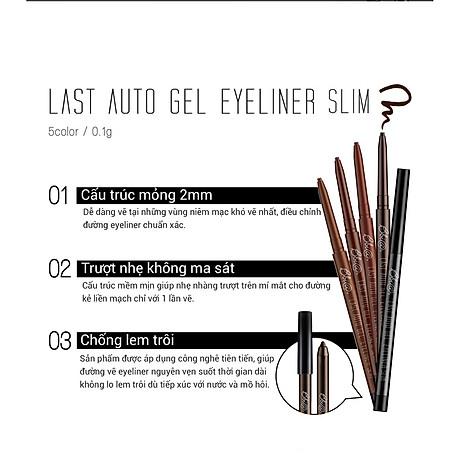 Gel chì kẻ mắt Bbia Last Auto Gel Eyeliner Slim 0.1g (5 màu) 3