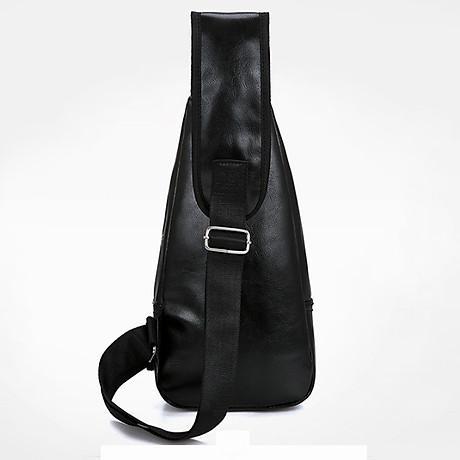 Túi đeo chéo nam da PU tiện dụng-đen 3
