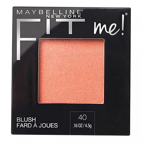Phấn Má Hồng Mịn Lì Chuẩn Màu Maybelline Fit Me Blush - Màu 40 Peach 4,5g 1