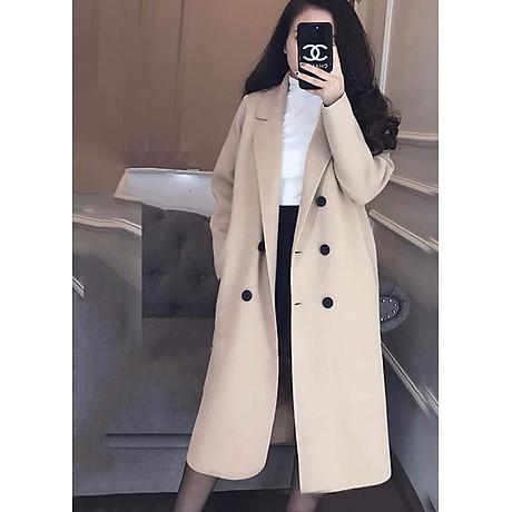 áo khoác dạ nữ dài 4