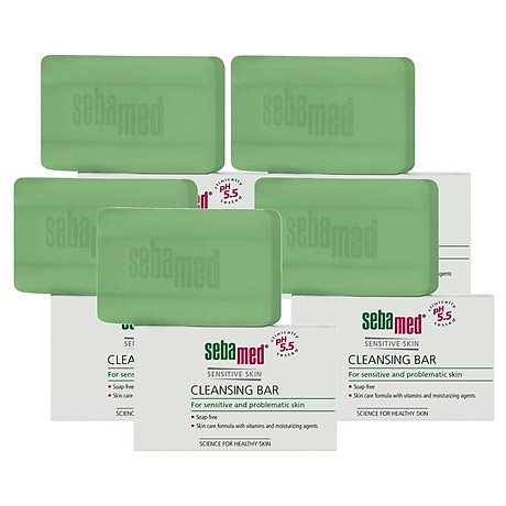 Xà Phòng Làm Sạch Kháng Khuẩn Ngừa Viêm Sebamed Sensitive Skin Cleansing Bar Ph5.5 Từ Đức Bánh 100Gr 3