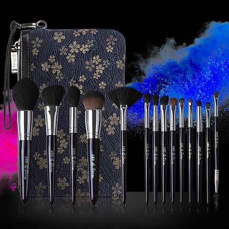 Bộ Cọ Trang Điểm cao cấp 15 cây Mydestiny starry sky 15 pcs Brushes Set Kit Professional 1