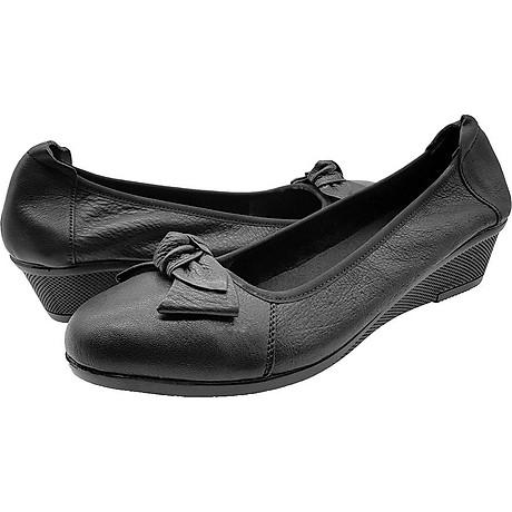 Giày Đế Xuồng 3cm Da Bò Thật Cực Mềm Đẹp Đơn Giản Sang Trọng, Cổ Chun Ôm Chắc Chân 3P0316 2