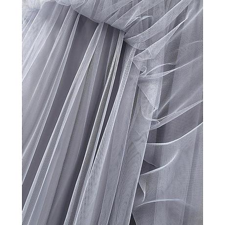 Chân váy midi tulle dài 5