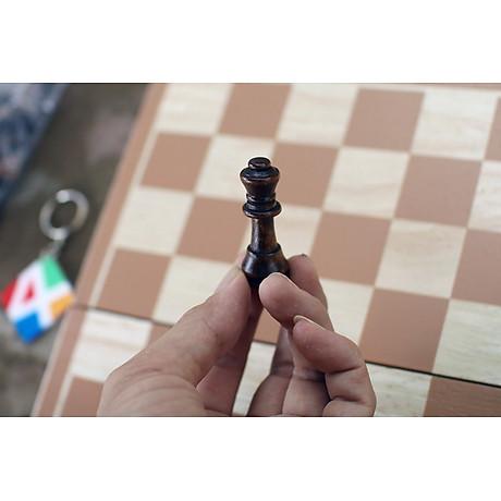 Bộ cờ vua gỗ cho trẻ em, đồ chơi giáo dục vận động an toàn giúp bé thông minh từ nhỏ 4