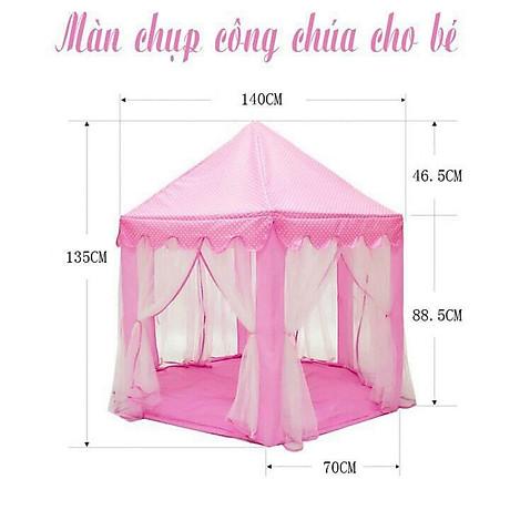 Lều công chúa cho bé yêu tặng kèm đèn nháy sao 3 mét trang trí 2