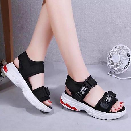 Giày Sandal nữ quai dán cá tính, năng động - SD69 4