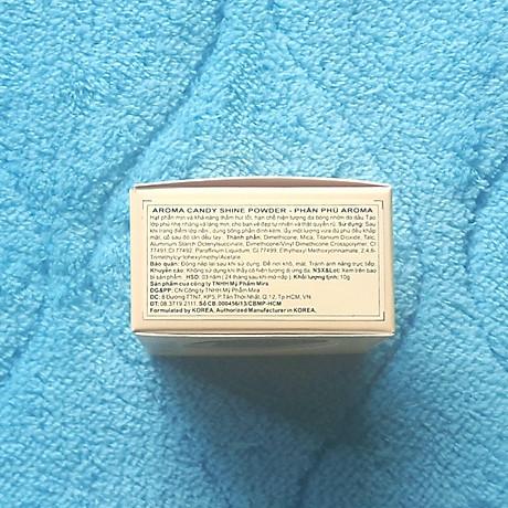 Phấn phủ bột kiềm dầu Aroma Candy Shine Powder Hàn Quốc 10g No.102 Da sáng tặng kèm móc khoá 6