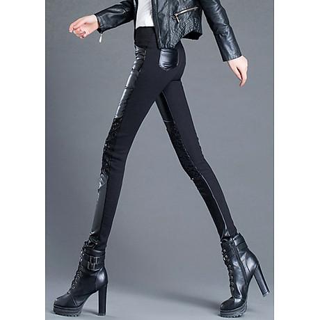 Quần legging nữ ren phối thun 106 3