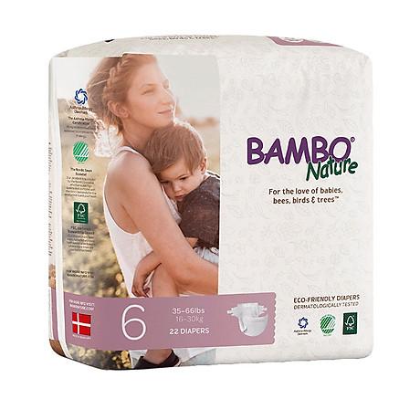Thùng Tã Dán Em Bé Hữu Cơ Bambo Nature - gốc Đan Mạch - 16-30kg - XXL22 - 6 gói - 22 miếng 4