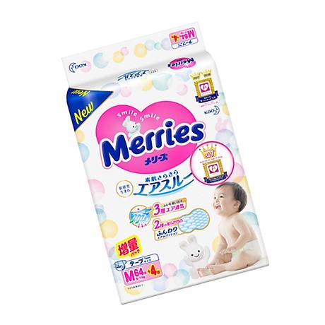 Tã bỉm dán Merries size M - 64 + 4 miếng (Cho bé 6 - 11kg) 3