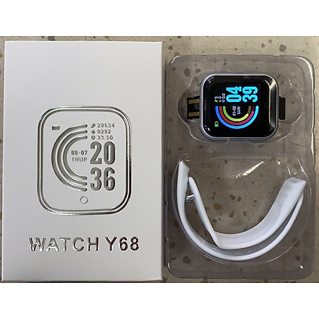 Đồng hồ thông minh Y68 LED và cảm ứng siêu mượt, hiển thị Cuộc gọi, Theo dõi sức khoẻ - Giao màu ngẫu nhiên 5