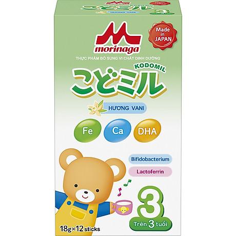Combo 2 hộp Sữa Morinaga số 3 Hương vani (Kodomil) 216g 2