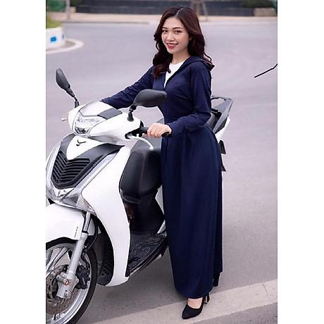Áo chống nắng nữ liền thân, vải dày, dài tới gót chân, chống tia UV 1