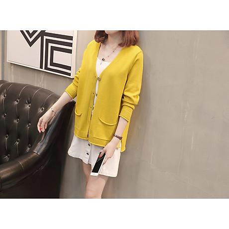 Áo cardigan len nữ 2 túi trước thời trang phong cách Hàn Quốc DV15 3