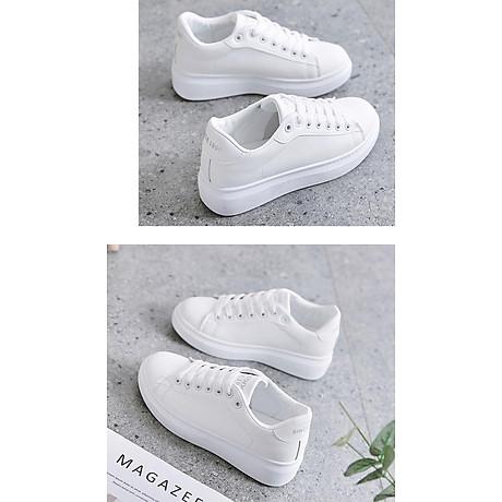 Giày thể thao sneaker nữ phong cách hàn quốc, màu trắng đế cao HMS-Sin1990 size từ 34 đến 40 4