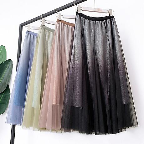 Váy xòe lưới tutu loang mầu lấp lánh VAY53 3
