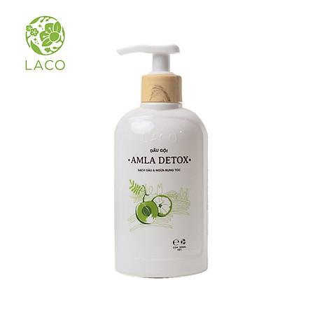 Dầu Gội Organic Amla Detox - Thương hiệu Laco - Cho tóc Chắc khỏe Ngăn ngừa Rụng và giảm gẫy rụng 1