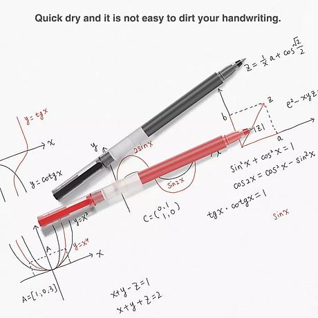 10 cây bút mực Xiaomi Gel Pens 0.5mm với khoang chứa mực rộng chống lem chống tắc 4