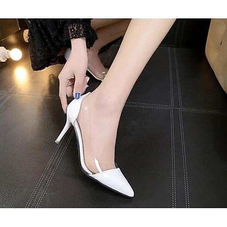 Giày cao gót mũi nhọn trong suốt 7 phân - [GA013] 1