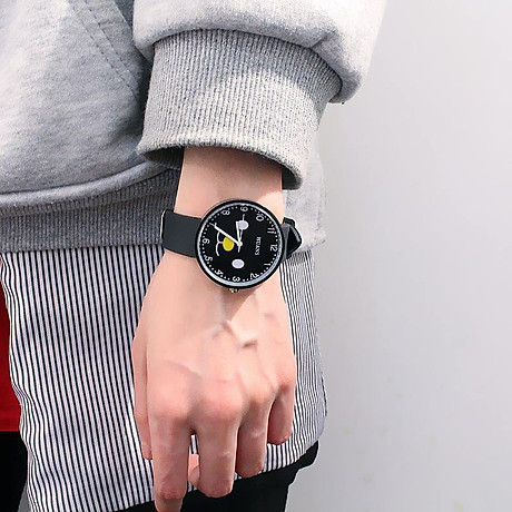 Đồng hồ thời trang nam nữ Huans Hmc1. hình mặt cười dây silicon. 6