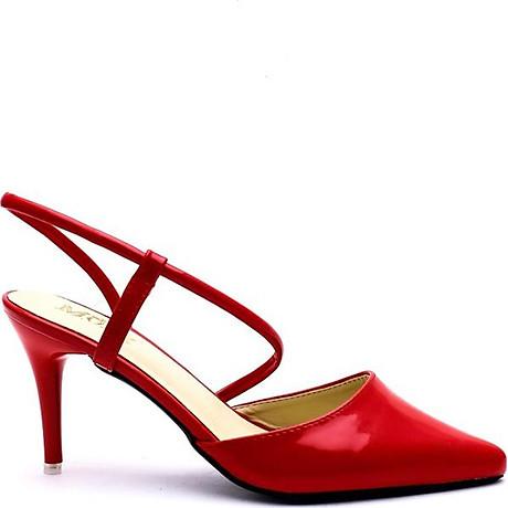 Giày Cao Nữ 2 Dây Mozy MZSD031.1 - Đỏ 2